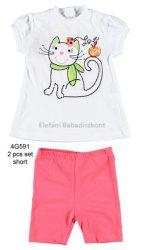 iDO Miniconf 2 részes pamut poló+nadrág #lány