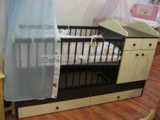 Kinder Möbel Bogi Kombi ágy 60x120cm elefánt #wenge-bézs