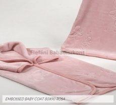 Mora Embossed babapléd 80x90cm #922 rosa