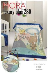 Mora Lux Plus Baby 280 babapléd 80x110cm #05 Azul