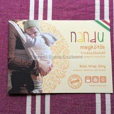 Nandu ÖKO Prémium hordozókendő #XXL