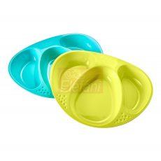 Tommee Tippee Explora 3 rekeszes tányér #2db