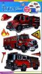 Marko falidekor 3D tűzoltóautók #slk-1056