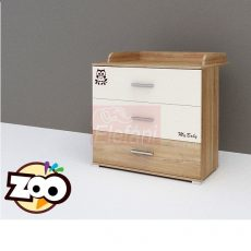 TODI ZOO 3 fiókos komód (2 csomagos)