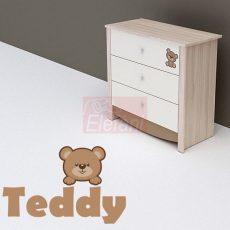 TODI Teddy 3 fiókos komód (2 csomagos)