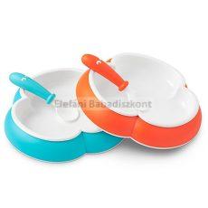 BabyBjörn Tányér és kanál #Orange és Turquoise