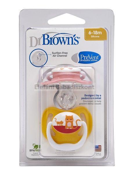 Dr Brown's Prevent játszócumi 6-18hó #Mintás
