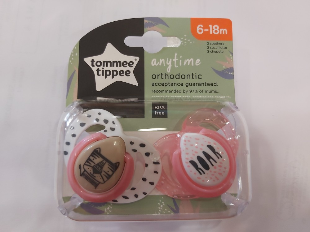 Tommee Tippee ctn Any time játszócumi 2db #6-18hó