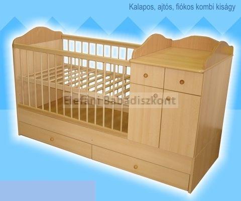 Kinder Möbel Bogi Kombi ágy 60x120cm #cseresznye