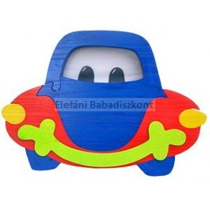 Gabeliz Fa falikar #autó kék-piros