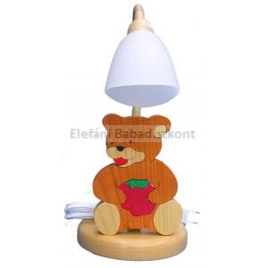 Gabeliz Fa asztali lámpa #maci málnás