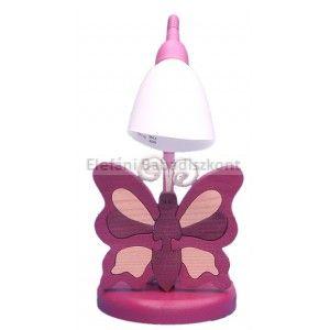 Gabeliz Fa asztali lámpa #pillangó bordó