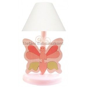 Gabeliz Fa éjjeli lámpa #pillangó rózsa-zöld