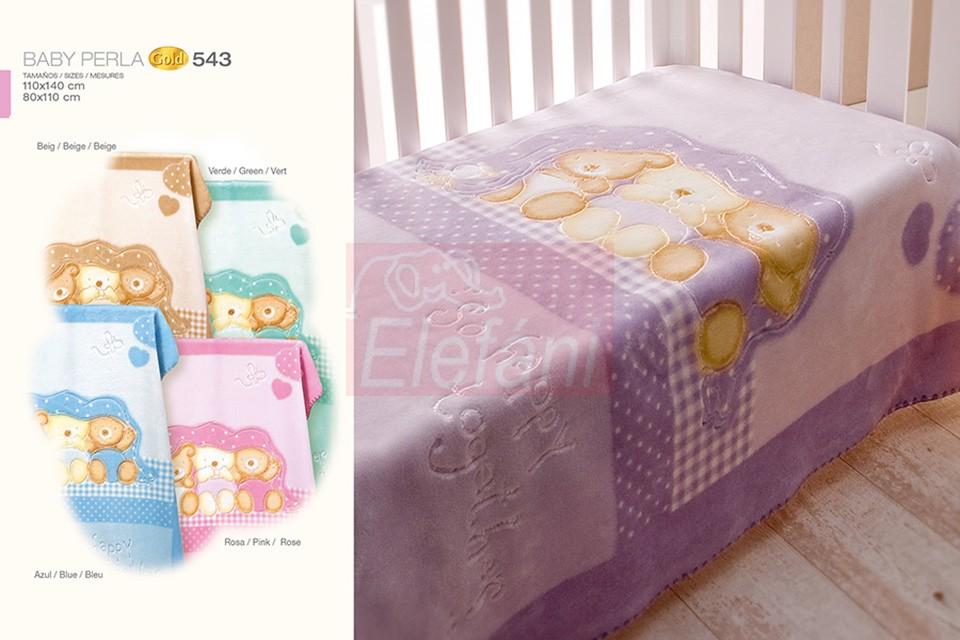 Baby Perla Puha babapléd Gold #543 beige