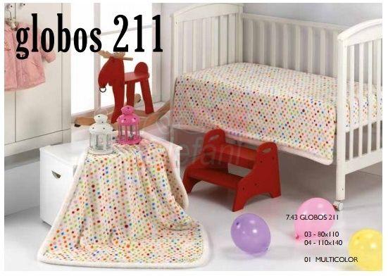 Mora Globos babapléd 80x110cm #multicolor