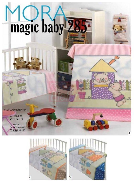 Mora Magic Baby 285 babapléd 80x110cm #02 Beige