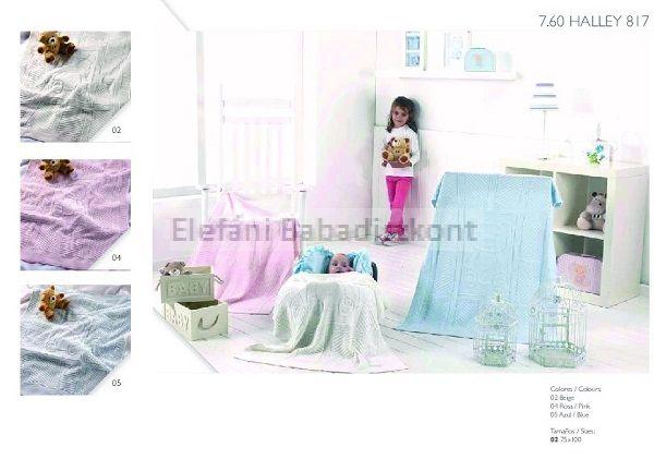Mora Halley babapléd 75x100cm #817 pink