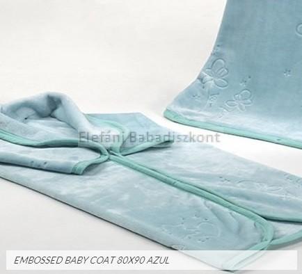 Mora Embossed babapléd 80x90cm #922 azul