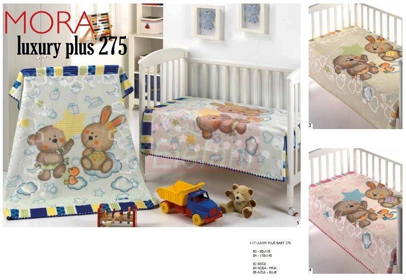 Mora Lux Plus Baby 275 babapléd 80x110cm #02 Beige