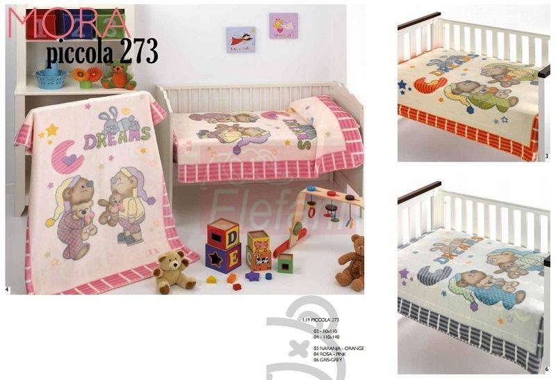 Mora Piccola 273 babapléd 80x110cm #04 Pink