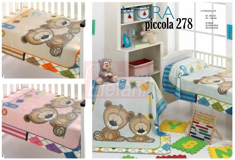 Mora Piccola 278 babapléd 80x110cm #04 Pink
