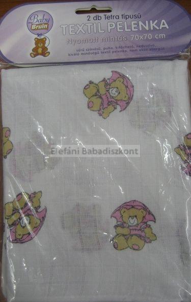 Babybruin Tetra textilpelenka mintás 70x70 cm #2db