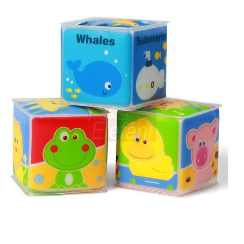 BabyOno Készségfejlesztő puha kocka 3 db #894