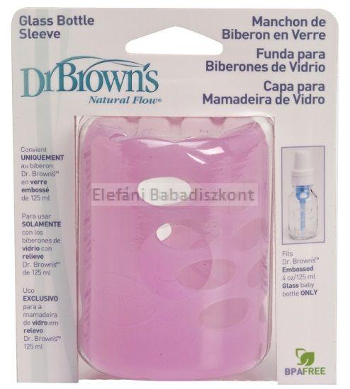 Dr Brown's Szilikon cumisüvegvédő #125ml Pink