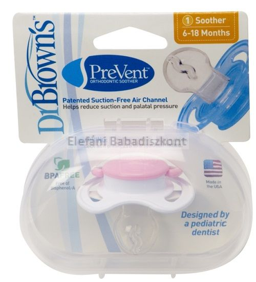 Dr Brown's Prevent játszócumi 6-18hó #Pink