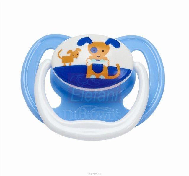Dr Brown's Prevent játszócumi 0-6hó #Kék kutya