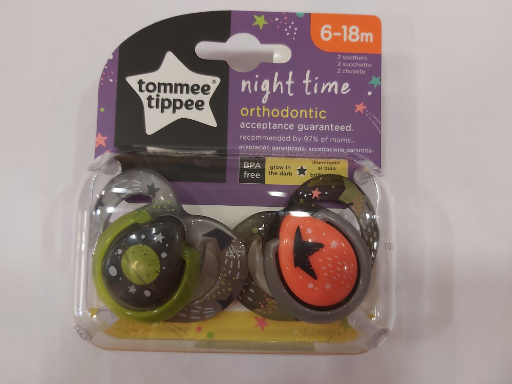 Tommee Tippee ctn Night time altatócumi 2db #6-18hó