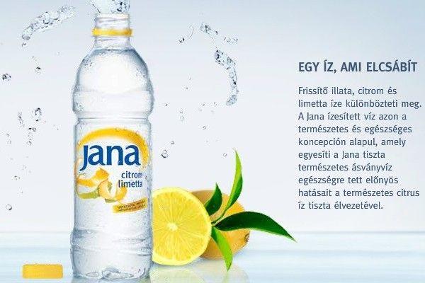 Jana Szénsavmentes Ásványvíz citrom-limetta AKCIÓS! #0,5 L