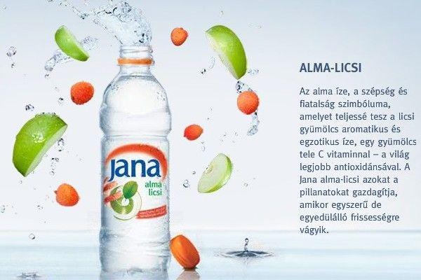 Jana Szénsavmentes Ásványvíz alma-licsi AKCIÓS! #0,5 L
