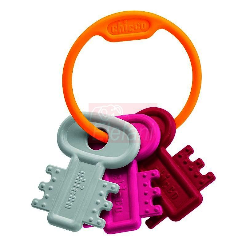 Chicco Kulcsos rágóka #rózsaszín