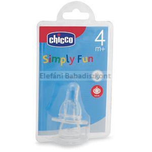 Chicco Simply Fun szilikon etetőcumi 4+ #2db