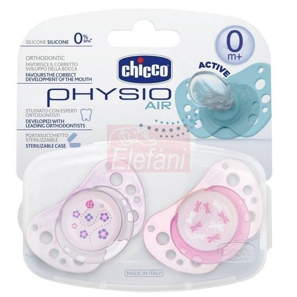 Chicco Physio Air Játszócumi 0hó+ 2db #pink