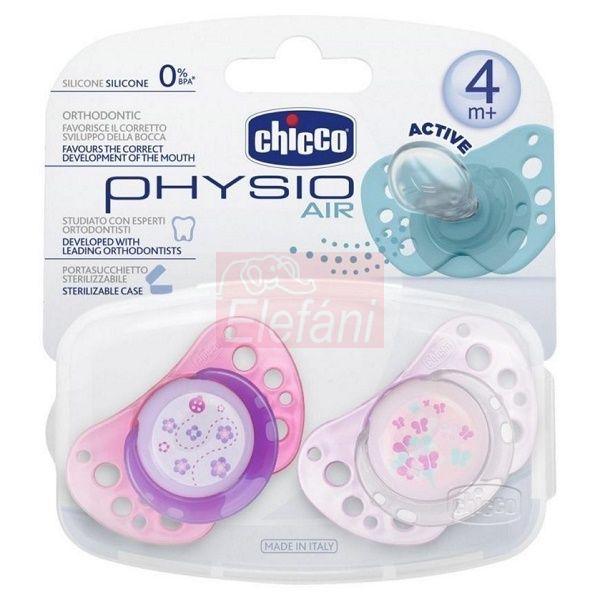 Chicco Physio Air Játszócumi 4hó+ 2db #pink