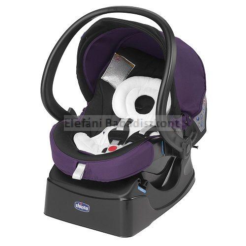 Chicco Auto-Fix Fast autósülés-hordozó 0-13kg #Lavender