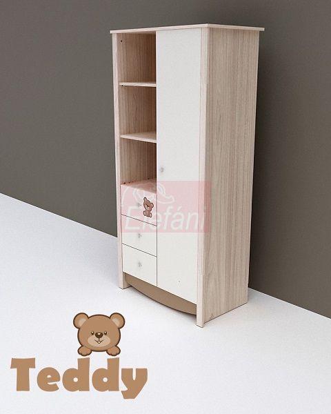 TODI Teddy 1 ajtós 3 fiókos szekrény ** CSAK SZEMÉLYES ÁTVÉTEL LEHETSÉGES!