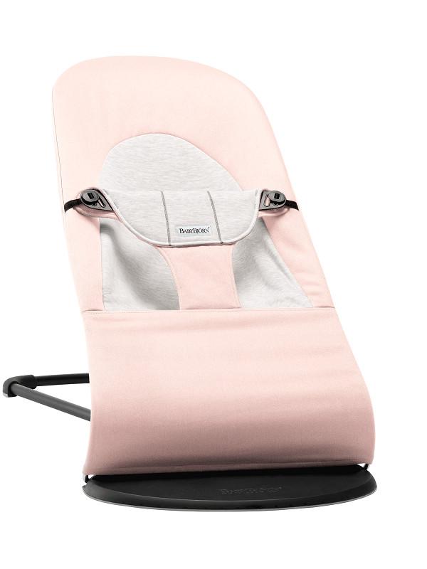BabyBjörn Soft pihenőszék Cotton/Jersey #Light Pink/Grey