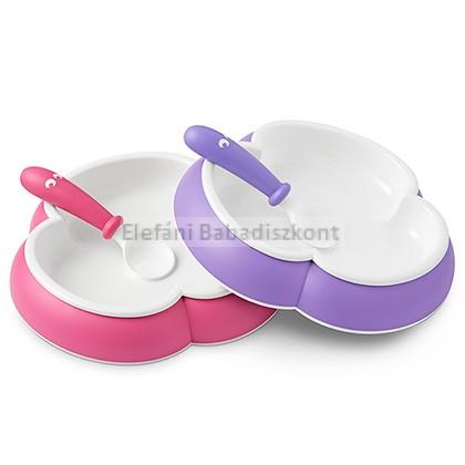 BabyBjörn Tányér és kanál #Pink és Purple