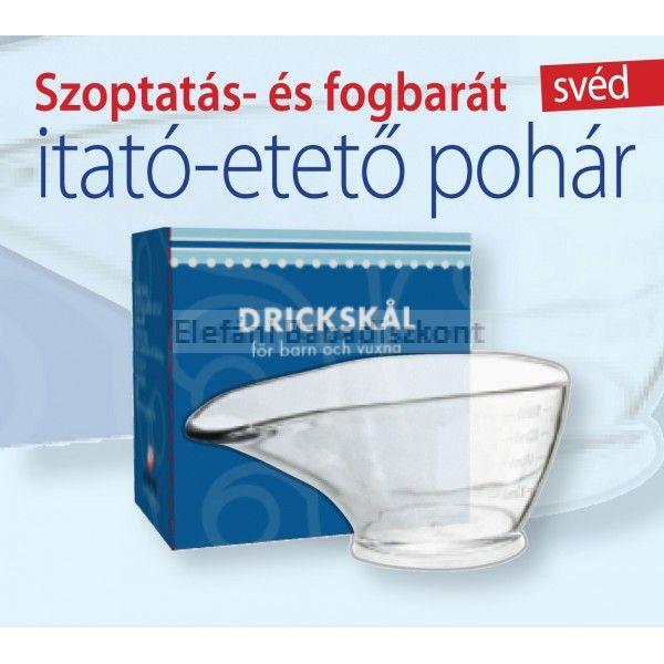 Drickskal Szoptatás- és fogbarát svéd itató-etető pohár #80ml