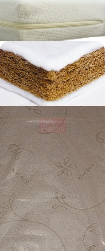 Kókuszmatrac Aloe Vera rétegelt 70x140x6 cm