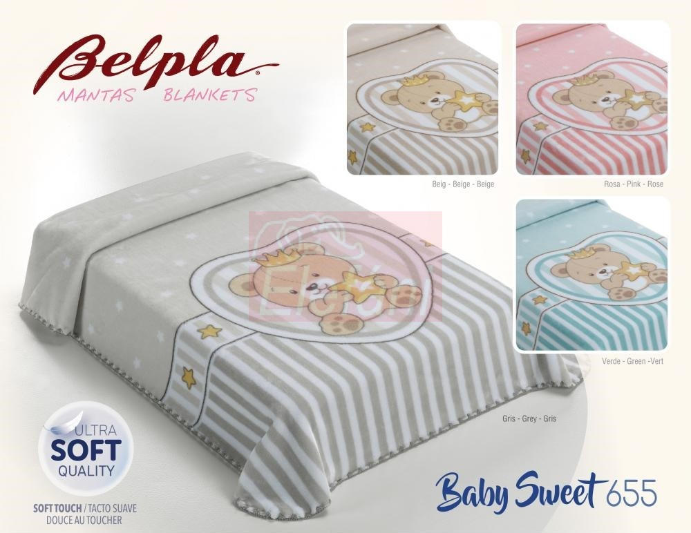 Baby Perla Puha babapléd Sweet 655  Grey - Elefáni Babadiszkont ... 3411f960cf