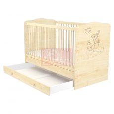 Szakály (Timba) LILI Átalakítható babaágy 70x140cm (2 csomagos) #Juhar-Csacsis  ** CSAK SZEMÉLYES ÁTVÉTEL LEHETSÉGES!